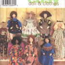 Simplicity Sewing Pattern 7668 Design Your Own Folk Art Doll and Clothes Uncut and Unused