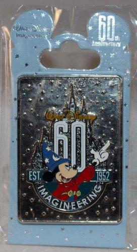 Walt Disney Imagineering WDI 60th Anniversary Sorcerer Mickey Rectangle Pin Limited Edition 300