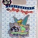 Walt Disney World Magic Kingdom 45th Anniversary Pin Tinker Bell
