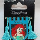Disney Parks Princess Banner Pin With Tassels Little Mermaid's Ariel