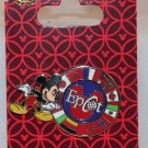 Walt Disney World Epcot Circle of Flags Pin Mickey Mouse