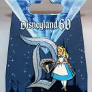 Disneyland 60th Anniversary Diamond D Pin of the Month AIW Alice Limited Edition 3000
