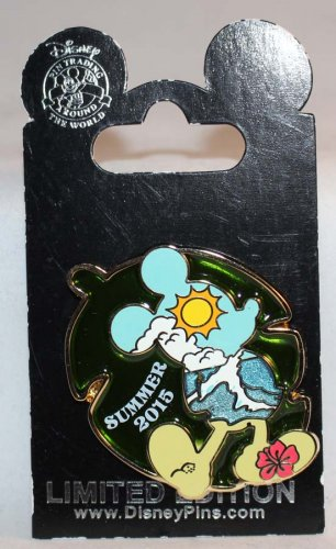 Disney Summer 2015 Stained Glass Pin Mickey Mouse Limited Edition 2000