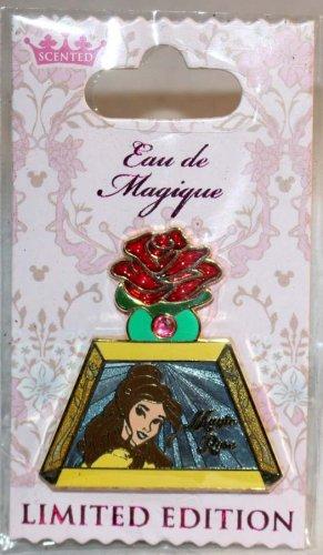 Disney Eau de Magique Perfume Bottle April 2014 Pin of the Month Belle LImited Edition 2000