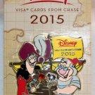 Disney Rewards 2015 Chase Visa Cardmember Pin Captain Hook and Mr. Smee