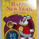 Disneyland Happy New Year 2016 Pin White Rabbit Limited Edition 3000