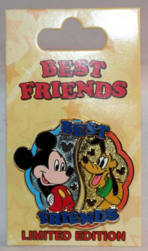 Disney Best Friends 2-Pin Set Mickey Mouse and Pluto Limited Edition 3000