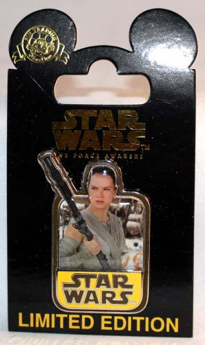 Disney Star Wars The Force Awakens Countdown Pin No. 5 Rey Limited Edition 10000