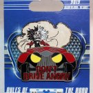 Disneyland Gear Up For Adventure Pin Cruella De Vil Don't Drive Angry Limited Edition 500