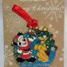Disney Merry Christmas 2013 Ornament Pin Mickey and Pluto Limited Edition 2000