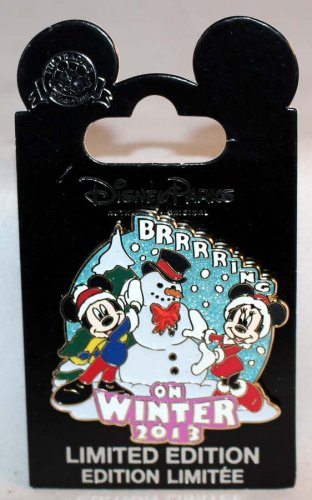 Disney Winter 2013 Pin Mickey and Minnie Limited Edition 2000
