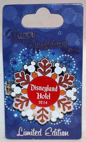 Disneyland Happy Holidays 2014 Disneyland Hotel Pin Stitch Limited Edition 750