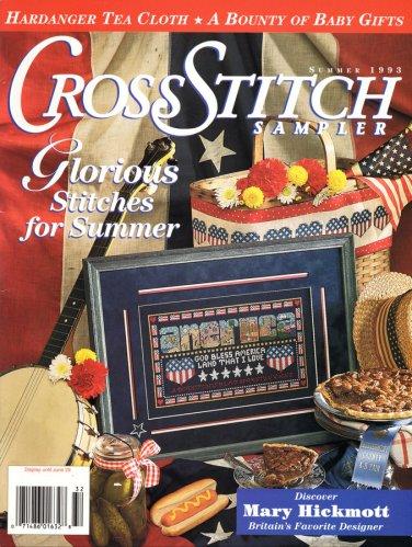 Cross Stitch Sampler Magazine Summer 1993 Issue 13 Projects Hardanger Primer