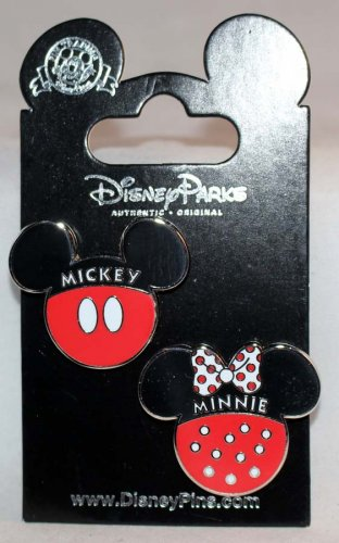 Disney Parks Mickey and Minnie Icon Pin Set of 2