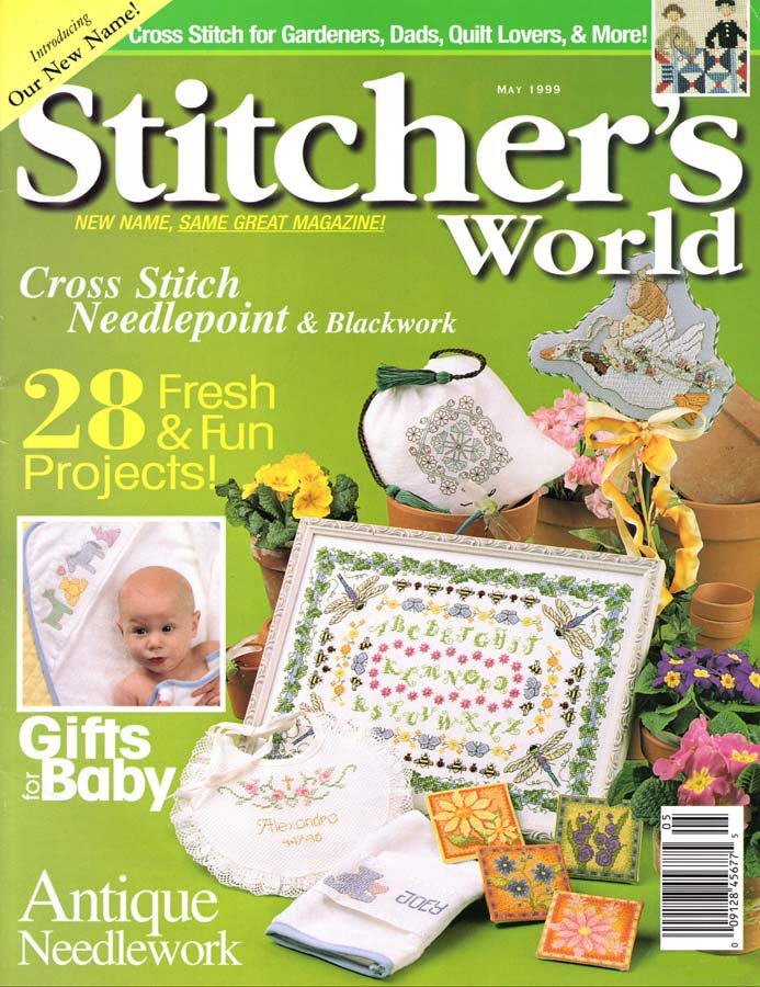Stitcher's World Magazine May 1999 Issue 28 Projects to Cross Stitch