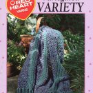 Leisure Arts Variegated Variety 12 Quick and Easy Afghans from Red Heart Yarns
