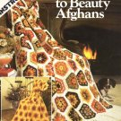 Leisure Arts Crocheted Scraps to Beauty Afghans 3 Designs with Color Variations