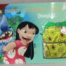 Disneyland Happy Holidays 2014 Lilo and Stitch Gift Box Pin Scrump Limited Edition 1500