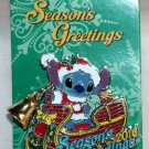 Disney Season's Greetings 2016 Pin Stitch in Sleigh with Bell Limited Edition 5000