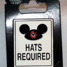 Disney Parks Hats Required Sign Pin
