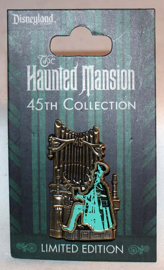 Disneyland Haunted Mansion 45th Anniversary Collection Pin Organist Limited Edition 1500