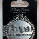 Disneyland Haunted Mansion 45th Anniversary Hinged Pin Limited Edition 3500 Hatbox Ghost