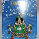 Disneyland Candlelight Processional 2015 Pin Limited Edition 1500 Mickey Chip and Dale