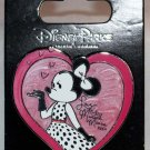 Disney Parks Minnie Mouse in Heart with Signature Pin