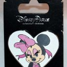Disney Parks Minnie Mouse in White Glitter Heart Pin