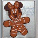 Disney Season's Eatings 2015 Gingerbread Cookie on Baking Sheet Pin Completer 1 Minnie Ltd Ed 1200