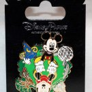 Walt Disney World Mickey and Minnie Four Park Spinner Pin