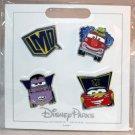 Disneyland Resort Cars Land Halloween Costume 4-Pin Set Mater McQueen