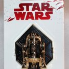 Disney Star Wars The Last Jedi R2-D2 Sculpted Chrome Pin Limited Edition 5000