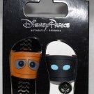 Disney Parks Sandals-Flip Flops 2-Pin Set Wall-E and Eve