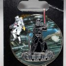Disney Parks Star Tours Pin with Dangle Darth Vader and Skytrooper