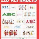 Leisure Arts 120 Alphabets to Cross Stitch