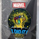 Disneyland runDisney Super Heroes Half Marathon Weekend 2017 Infinity Gauntlet I Did It Pin Limited