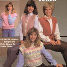 Leisure Arts Women's Vests 10 Designs, 6 to Knit, 4 to Crochet