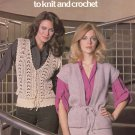 Leisure Arts Vests for Women to Knit and Crochet 8 Designs