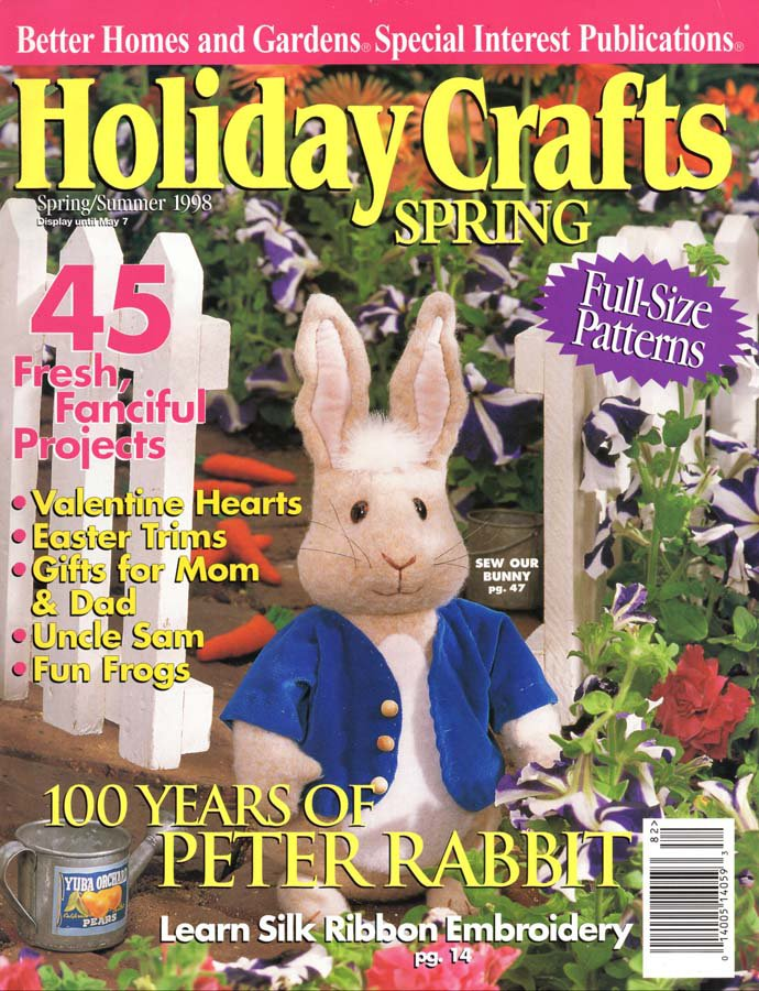 Better Homes And Gardens Holiday Crafts Spring Summer 1998 45 Projects