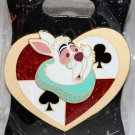 Walt Disney Imagineering WDI Alice in Wonderland White Rabbit Heart Pin Limited Edition 250