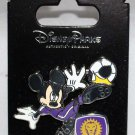 Disney Parks Mickey Mouse Plays Soccer for the Orlando City Club Pin