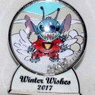 Disney Winter Wishes 2017 Snow Globe Pin Stitch Limited Edition 5000
