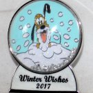 Disney Winter Wishes 2017 Snow Globe Pin Pluto Limited Edition 5000