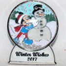 Disney Winter Wishes 2017 Snow Globe Pin Mickey Mouse Limited Edition 5000