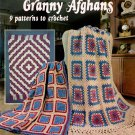 American School of Needlework New Granny Afghans Booklet 9 Patterns to Crochet