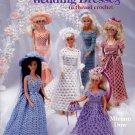 American School of Needlework Fashion Doll Wedding Dresses in Thread Crochet 6 Designs