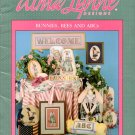 Alma Lynne Designs Bunnies Bees and ABCs - 4 Designs to Cross Stitch Plus Bunny Doll to Sew