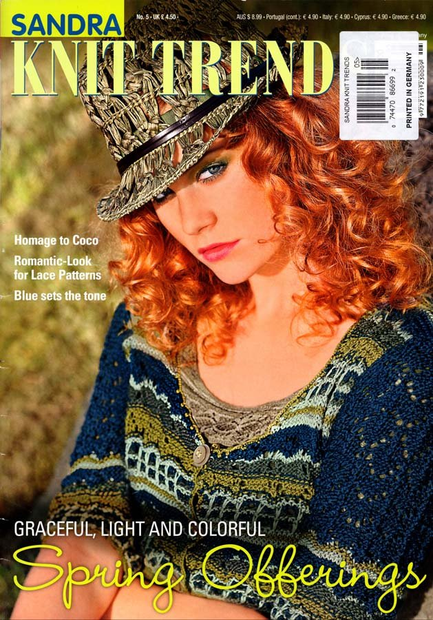 Sandra Knit Trends Magazine Number 5 Spring 2013 - 62 Couture Designs from Germany