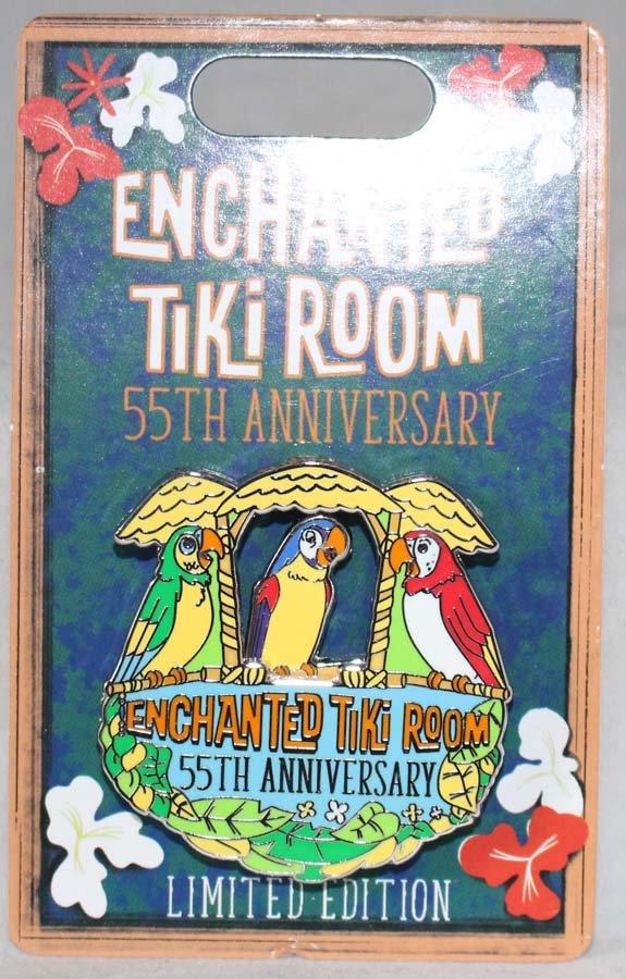 Disneyland Resort Enchanted Tiki Room 55th Anniversary Parrots Pin Limited Edition 2000